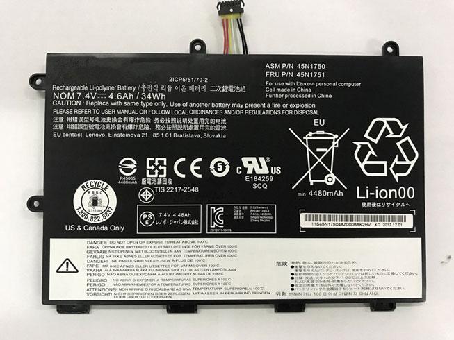batería del portátil Lenovo 45N1750